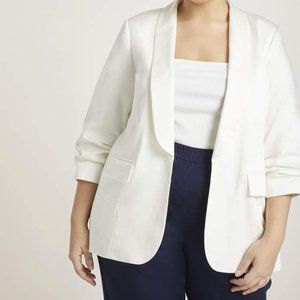 Eloquii Essential Blazer with Tuck Sleeves